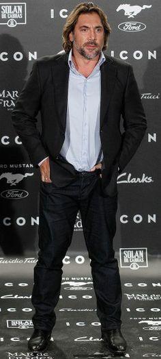 Javier Bardem arrives at the Icon Men Awards on Thursday in Madrid.