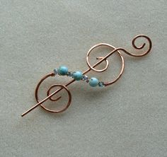 Copper+Shawl+Pin+with+Turquoise+Jasper+by+ScottsMountainCrafts