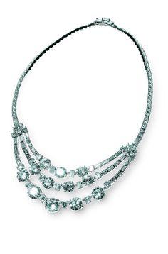 Grace Kelly's Riviere Diamond Necklace, Cartier, Paris, 1953.