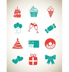 Celebration party icons by Giuseppe_R on VectorStock®
