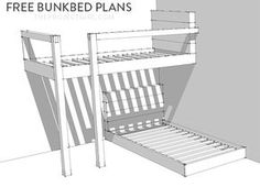 FREE Bunkbed Plans - How to design and build custom bunk beds Jenallyson - The Project Girl - Fun Easy Craft Projects including Home Improvement and Decorating - For Women and Moms Custom Bunk Beds, Cool Bunk Beds, Bunk Beds With Stairs, Kids Bunk Beds, Boys Bunk Bed Room Ideas, Bedroom Ideas, Bunk Bed Rooms, Bedroom Decor, Loft Beds