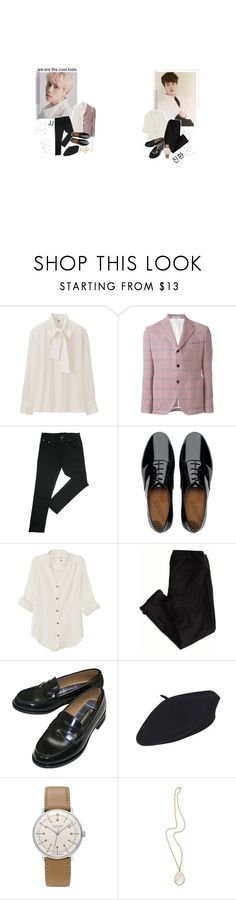 """""""- jaejoong x jinhwan ; qwin club party outfits"""" by softsounds ❤ liked on Polyvore featuring Uniqlo, Al Duca d'Aosta, FitFlop, rag & bone, American Eagle Outfitters, Junghans, Irene Neuwirth and JFR"""