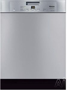 Miele G4225SC Full Console Dishwasher with 6 Wash Programs, Cutlery Tray, AutoSensor, CleanAir Drying and Q1 Acoustics