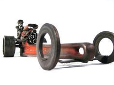 Reserved for Tim Flowers  Recycled Metal Rat Rod Dragster