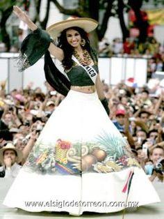 Miss Mexico 2007 - Rosa Maria Ojeda (Fuzz) Traje Tipico De Queretaro a28ca70b56c05
