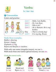Grade Grammar Verb Be. Improve English Grammar, English Phonics, Teaching English Grammar, English Grammar Worksheets, English Writing Skills, English Vocabulary Words, English Language Learning, Learn English Words, Verb Activities For First Grade