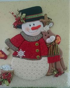 Christmas Door Decorations, Christmas Ornament Crafts, Snowman Crafts, Christmas Sewing, Felt Christmas, Christmas Snowman, Christmas Themes, Felt Crafts, Holiday Crafts