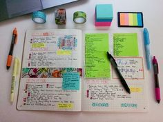 Like the idea of one place/journal to stick miscellaneous post-its; smash-bullet-journal.