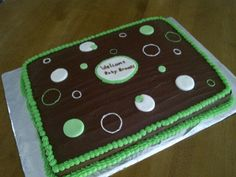Fun and easy Way to Decorate a baby shower cake.