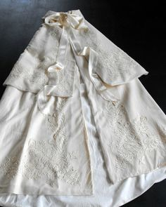 Exceptional Victorian Christening Cape in by Vintagefrenchlinens