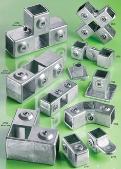 Square Tube Connectors - Metal | Flexliner | Tube Connectors