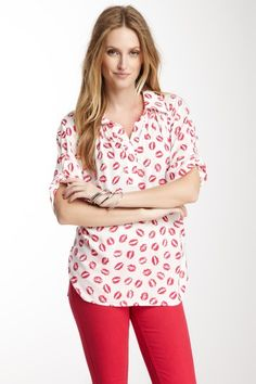 Button Cuff Sleeve Shirt on HauteLook