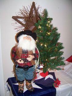 "Cowboy Santa 24"""