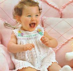 Handmade newborn crochet summer girls dress, Different sizes, pink baby girl dress, summer girl dress - made to order by NinaZaida on Etsy