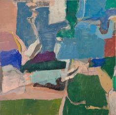 Richard Diebenkorn (American, 1922-1993), Berkeley # 5, 1953. Oil on canvas, 134.6 x 134.6 cm.