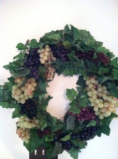 Grapes and Wine  wreaths by Auntie