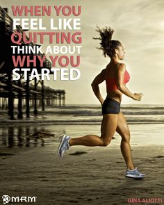 When you feel like quitting think about why you started #TeamMRM #MRM #motivation #running #health #fitness