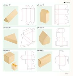 truebluemeandyou: DIY Gift Boxes. So little. DIY Gift Boxes. From the book: かわいいラッピング素材BOOK. Template at Hello Sandwich here. The templates all fit to an A4 sheet of paper so it's super easy to print and if you'd like to make them bigger you can easily enlarge on a photocopier.