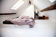 attic renovation tips Closet Bedroom, Bedroom Inspo, Home Bedroom, Bedrooms, Attic Renovation, Attic Remodel, Small Space Living, Small Spaces, House Rooms