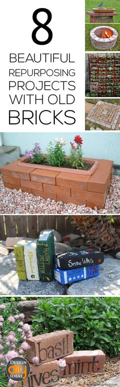 Put those old brick to good use with these beautiful repurposing projects!