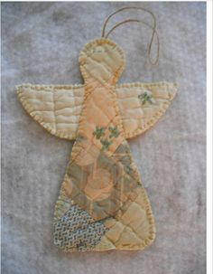 Christmas Ornaments To Make, Christmas Sewing, Primitive Christmas, Xmas Crafts, How To Make Ornaments, Christmas Angels, Christmas Quilting, Christmas Ideas, Angel Crafts