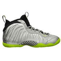 e33bb20bb8a Nike Little Posite One - Boys  Grade School - Basketball - Shoes - Metallic  Silver Volt Black Met Cool Grey