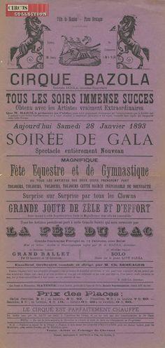 Circus collection: Cirque Bazola 1893