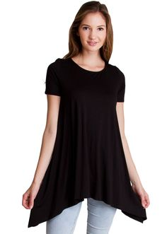 Tapered Tunic Trapeze Top T4473B, clothing, clothes, womens clothing, jeans, tops, womens dress