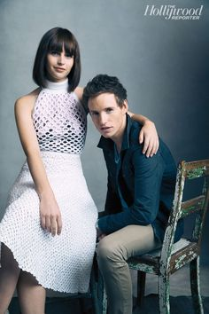 Eddie Redmayne and Felicity Jones from 'The Theory of Everything' for The Hollywood Reporter