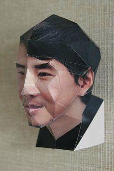 人間のペーパークラフト papercraft