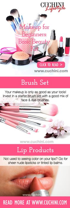 Makeup for Beginners - Building a Basic Beauty Kit  #makeup #beauty #beginner  http://blog.cuchini.com/2014/01/17/makeup-for-beginners-building-a-basic-beauty-kit-drugstore/
