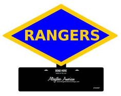WWII Ranger Division Table Top Sign