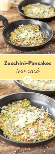 As crispy as Fritters! Low carb pancakes with zucchini- So knusprig wie Fritters! Low-Carb-Pancakes mit Zucchini As crispy as Fritters! Low Carb Pancakes with Zucchini - Ketogenic Recipes, Low Carb Recipes, Cooking Recipes, Healthy Recipes, Healthy Drinks, Ketogenic Diet, Zucchini Pancakes, Low Carb Pancakes, Zucchini Fritters