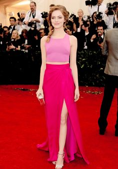 "gwenstacye:  Emma Stone attends the Charles James: Beyond Fashion"" Costume Institute Gala (May 5, 2014)"