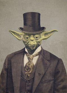 Steampunk Tendencies | Victorian Wars - Terry Fan Illustrations  Yoda