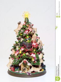 Árbol De Navidad De Los Pugs