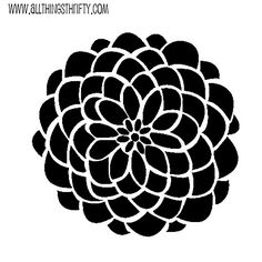 Free stencil patterns & a tutorial showing how to make your own IDY stencil from 'all things thrifty'