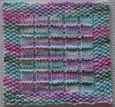 Windowpanes Knitted Dishcloth Pattern