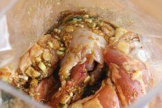 Put chicken and marinade in zipper-top bag