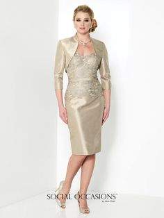 The Social Occasions by Mon Cheri 215807 dress and bolero jacket will serve you for years to come. This look starts with a strapless mock-two piece dress. Jacket Dress, Dress Up, Bolero Jacket, Shirt Skirt, Social Dresses, Mothers Dresses, Bride Dresses, Prom Dresses, Bridal And Formal