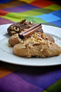 Greek Christmas Sweets.These are one of two traditional Christmas sweets made all over Greece. They are a simple, delicious syrup cookie made with fresh juice, zest, and cinnamon and spices. Once b…