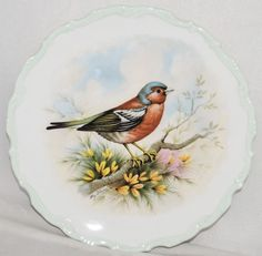 "Royal Albert THE WOODLAND BIRDS COLLECTION Chaffinch 8.5"" Bone China Plate"