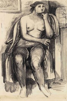 Henry Moore: Influences and Influenced - 3 May - 15 June 2019 Paintings Famous, Famous Artists, Manchester City Art Gallery, Present Drawing, Avant Garde Artists, Tate Gallery, Ink Wash, Henry Moore, Royal College Of Art