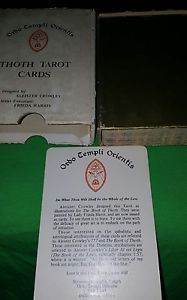 Aleister Crowley Thoth Tarot Deck Cards White Box B Cards Frieda Harris.
