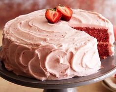 AUNT SANDY'S STRAWBERRY CAKE  CAKE -1 package of white cake mix -1 package of strawberry Jello -3/4 cup cooking oil -1/2 cup water -1/2 cup frozen strawberries (thawed) -3 eggs  Mix all together.  Mix all ingredients together except eggs.  Add 3 eggs, one at a time.  Bake at 350 for 25-30 minutes.  ICING  -1/2 stick butter -1/2 lb. of powdered sugar 1/2 cup of strawberries (no juice)  Beat until creamy