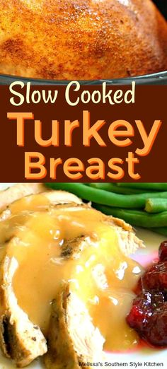 Tender and moist Slow Cooked Turkey Breast for the holidays or anyday made in your slow cooker. Crock Pot Slow Cooker, Slow Cooker Recipes, Crockpot Recipes, Cooking Recipes, Slow Cook Turkey, Cooking Turkey, Crock Pot Turkey, Slow Cooking, Recipes