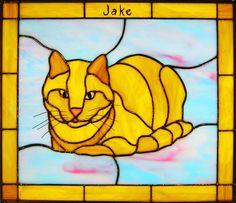 Yellow cat by Sunny Brook Studio