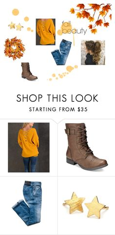 """Happy Fall!"" by thewallflowergirl on Polyvore featuring Simply Couture, American Rag Cie, Pernille Corydon, National Tree Company, fallfashion and fallbeauty"