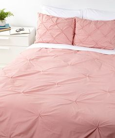 Look at this #zulilyfind! Rose Pin Tuck Duvet Cover #zulilyfinds  (Sale ends in 2 days and 19 hours)