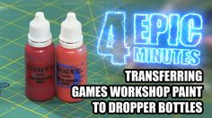 4 Epic Minutes - GW Paint in Dropper Bottles Tired of your Games Workshop paint drying out thickening up taking up too much space or just being messy?  Transfer it to a dropper bottle!  Here's the Dropper Bottles I used:  http://www.amazon.com/gp/product/B00V2C0C7Q/ref=as_li_tl?ie=UTF8&camp=1789&creative=9325&creativeASIN=B00V2C0C7Q&linkCode=as2&tag=epiducstu-20&linkId=SQMLU5KYX4U5E6SG  The Epic Hobby is made possible thanks to the support of my fans and patrons.  If you like what I do…